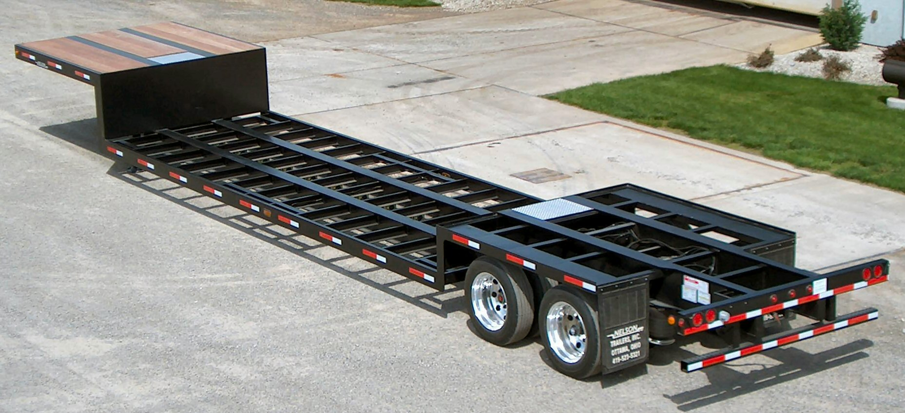 Double Drop Trailer : Nelson manufacturing double drop trailers